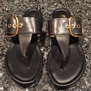 Marc Fisher Black Leather Sandals
